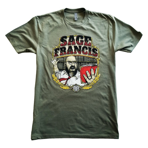 "Sage Francis ""Best Of Times"" GREEN T-Shirt"
