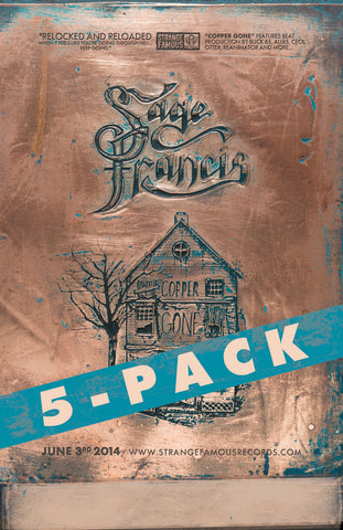 "Sage Francis ""Copper Gone"" 11x17 Poster - 5 PACK"