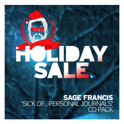 "Sage Francis ""Sick Of... Personal Journals"" CD PACK"