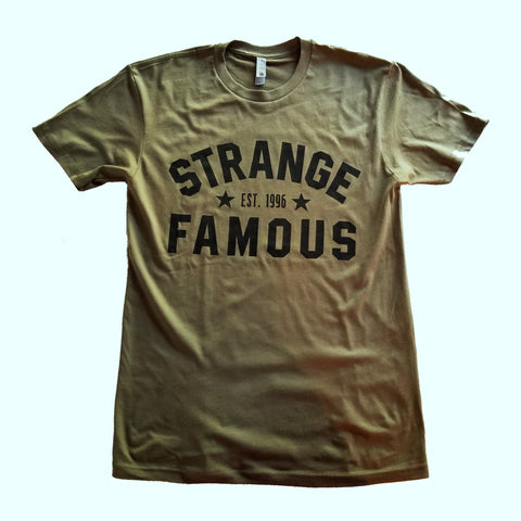 "Strange Famous ""Est. 1996"" Black-on-GREEN T-Shirt"