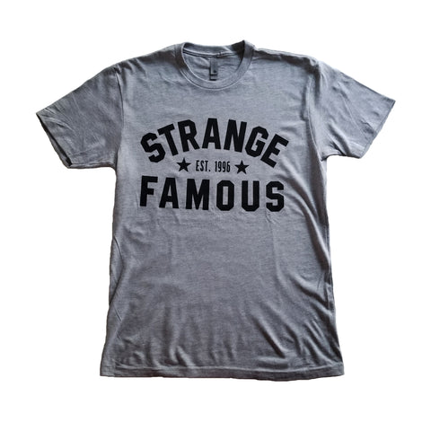 "Strange Famous ""Est. 1996"" Black-on-GREY T-Shirt"