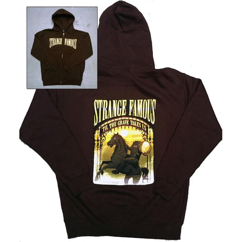 "SFR ""Til The Grave Takes Us"" BROWN Zip Hoodie + MIXTAPE MP3 Download"