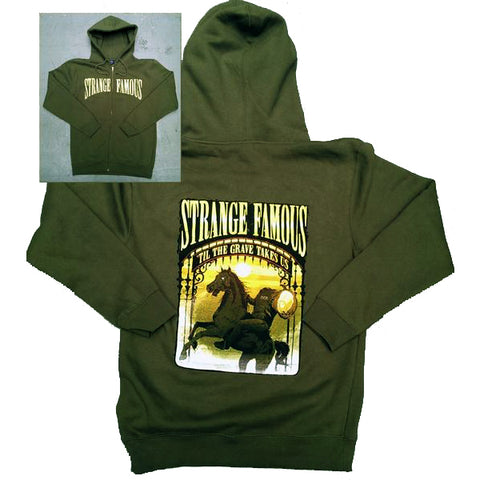"SFR ""Til The Grave Takes Us"" OLIVE GREEN Zip Hoodie + MIXTAPE MP3 Download"