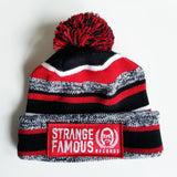 SFR Red Stripe Knit Hat