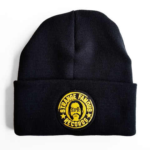 SFR Gold Logo-on-Black Knit Hat