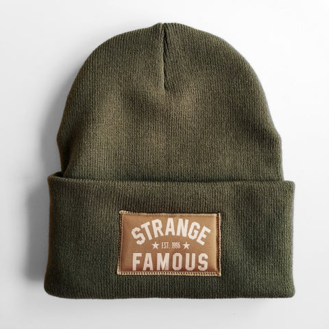 SFR Olive Green Knit Hat