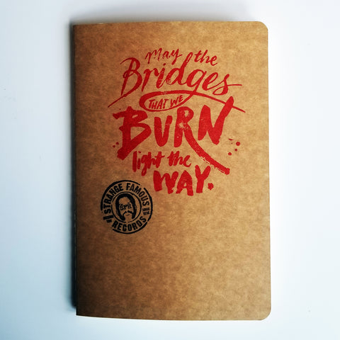 "Sage Francis ""May The Bridges We Burn"" SIGNED Notebook"