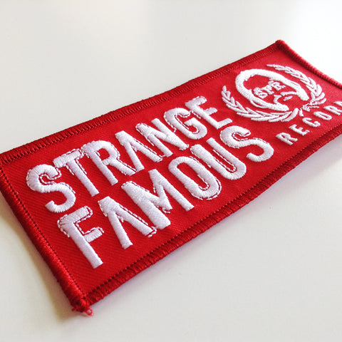 SFR Rectangle Logo BLOOD RED Embroidered Patch