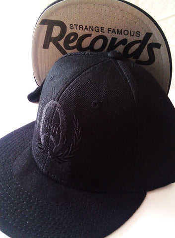 SFR BLACK-On-Black Logo Snapback
