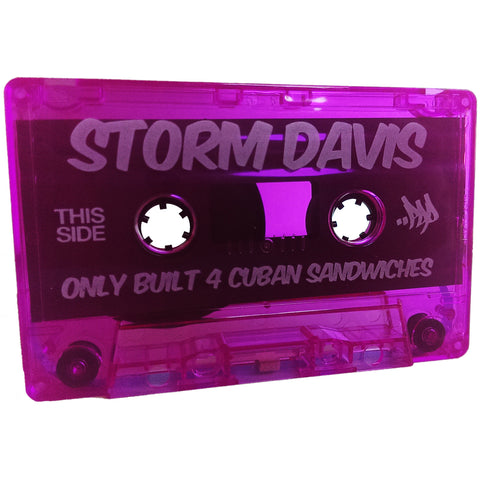 "Storm Davis - ""Only Built 4 Cuban Sandwiches"" Cassette + Extras"