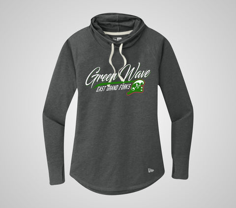 EGF Green Wave Cowl Pullover - Ladies