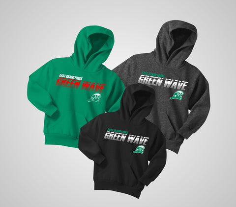 EGF Green Wave Core Hoodie - Youth