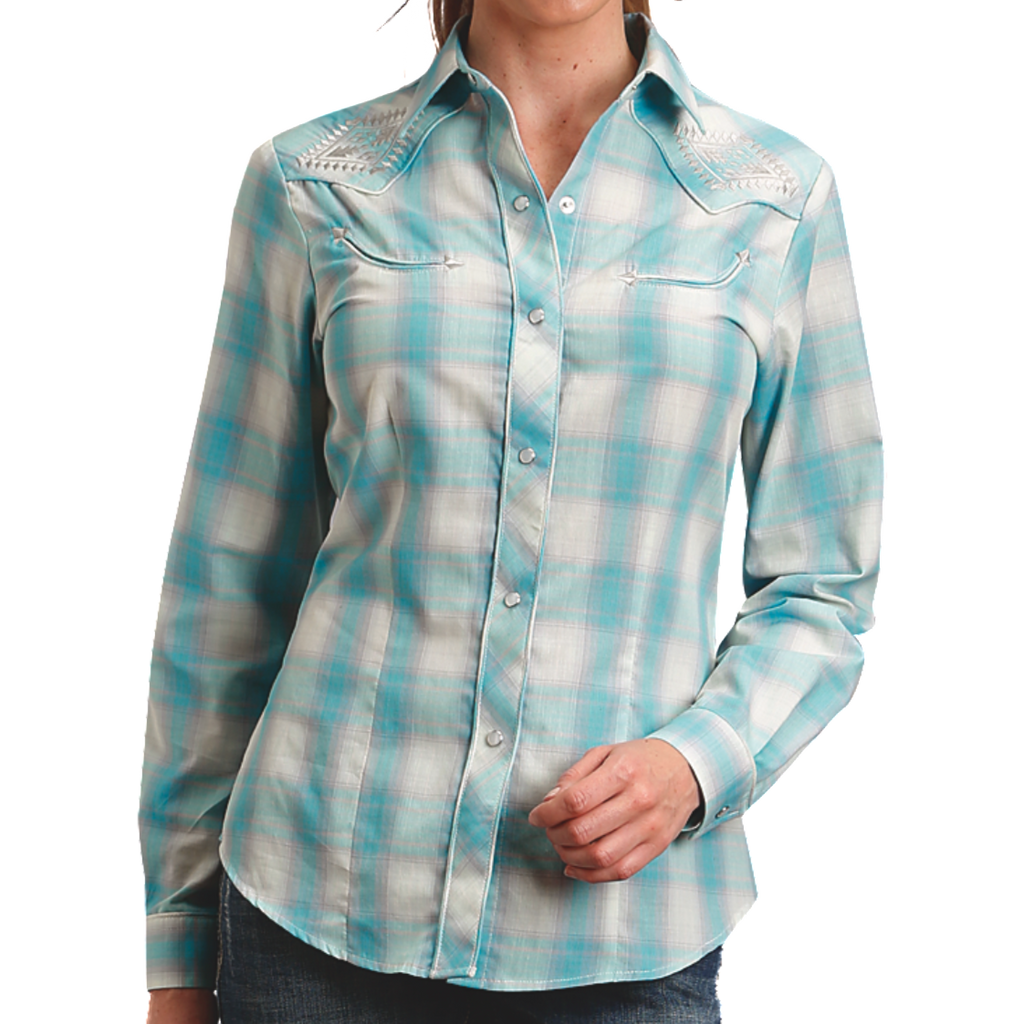 Roper Western Plaid Shirt - headwestbozeman