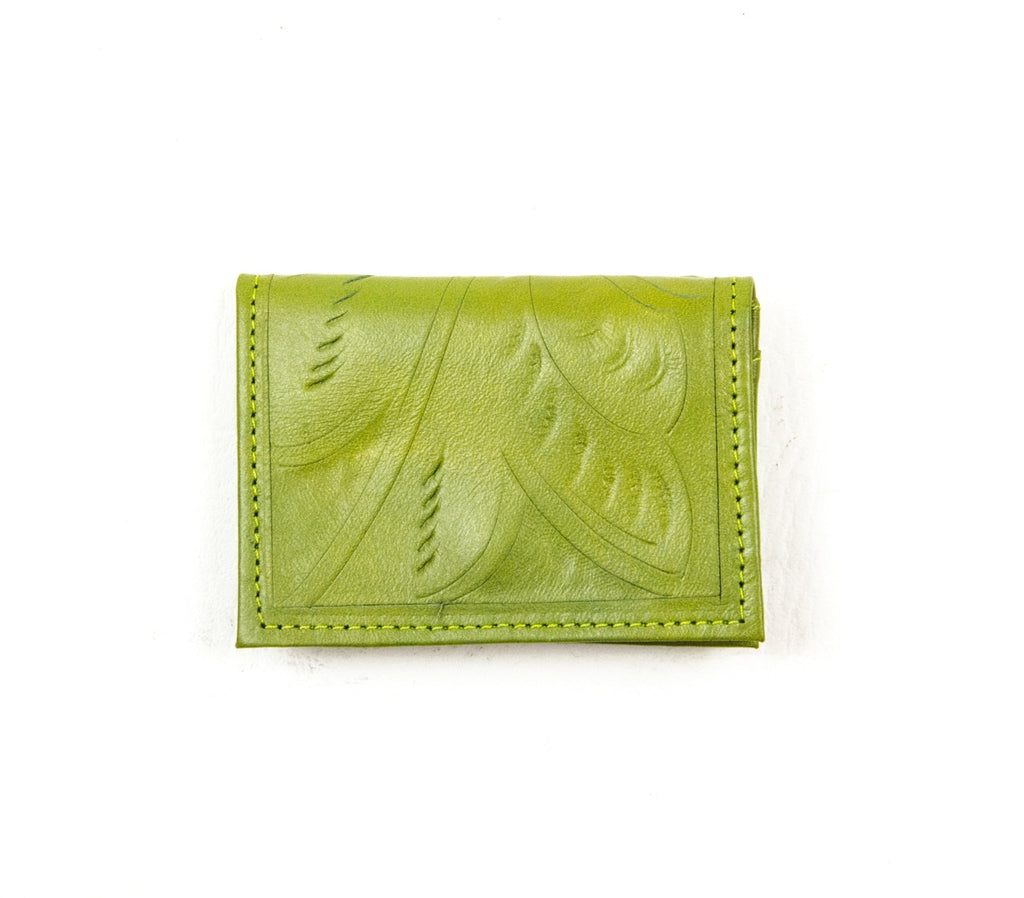 Business Card Holder: Spring Green - headwestbozeman