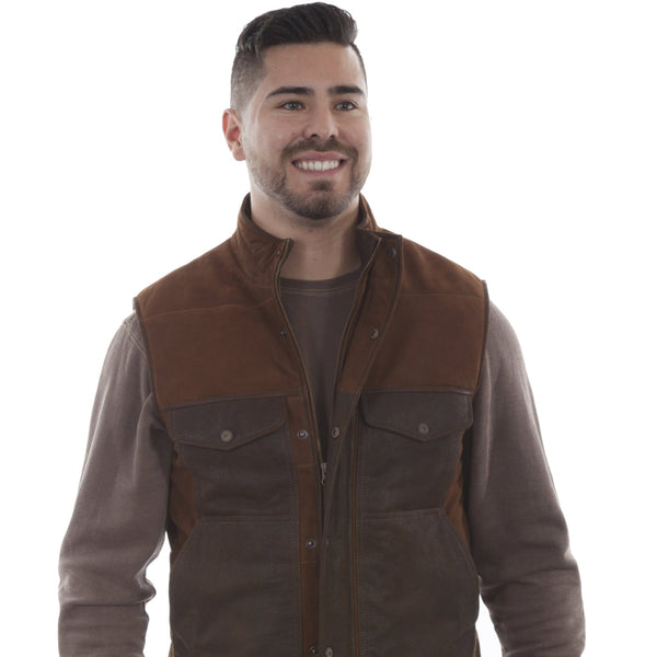 Scully Two Tone Suede Vest Mens Man Outerwear Western Wear Bozeman Montana Head West Western Boutique Men's Clothing Apparel