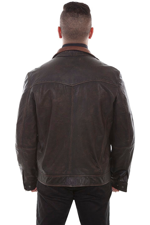 Scully Leather Vintage Two-Tone Jacket - headwestbozeman
