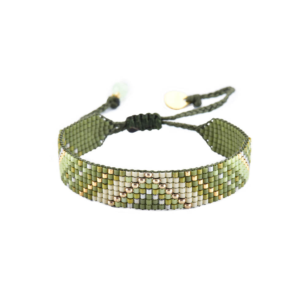 This handbeaded jewelry piece makes a lovely bracelet gift. Head West Bozeman Montana