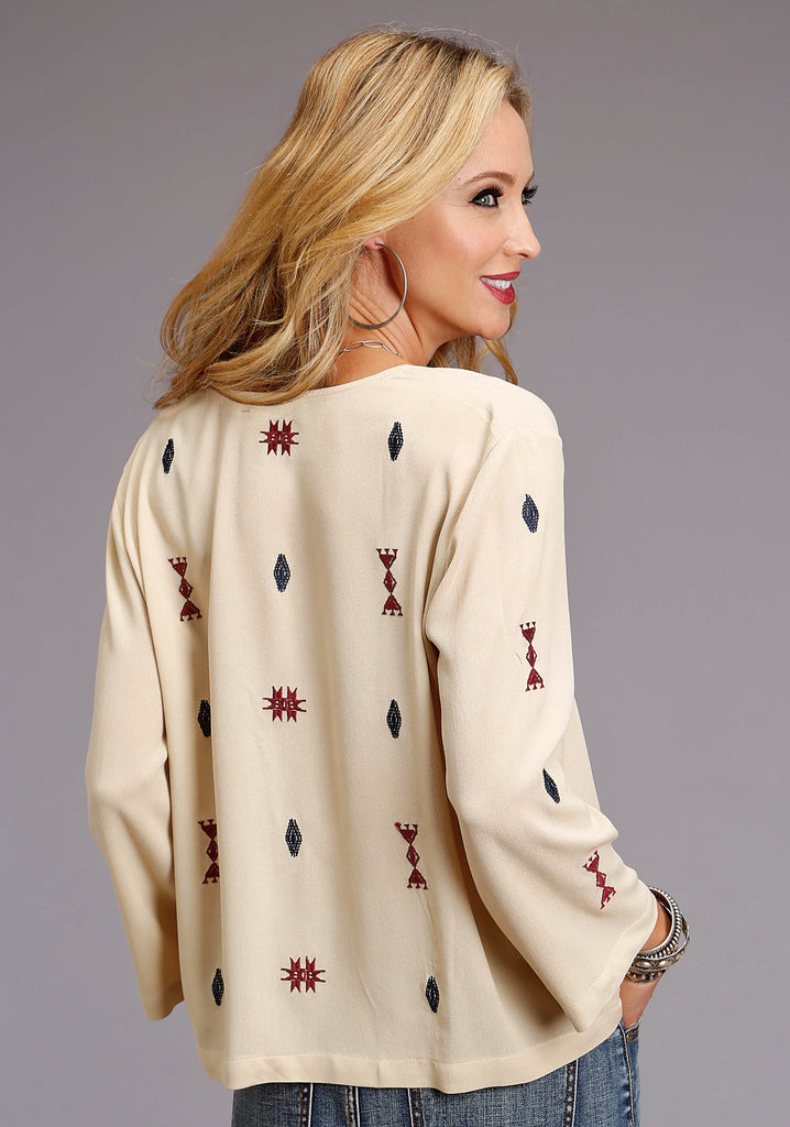 Embroidered Western Blouse