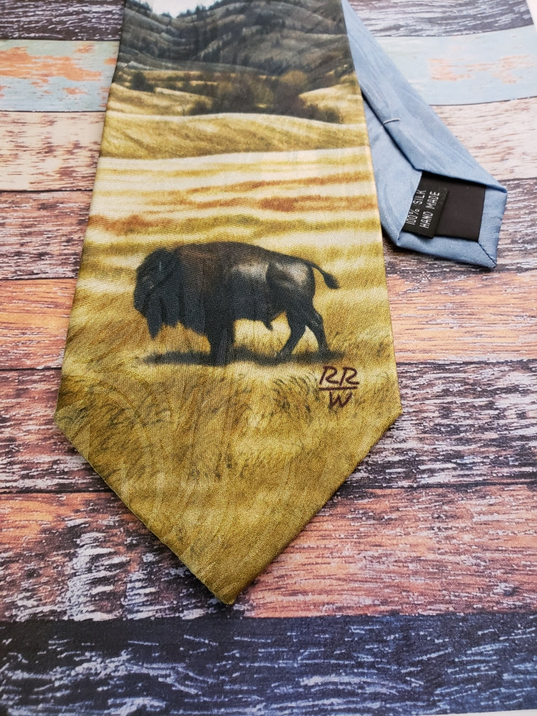 """The American"" Rockmount Ranch Wear Silk Tie - headwestbozeman"
