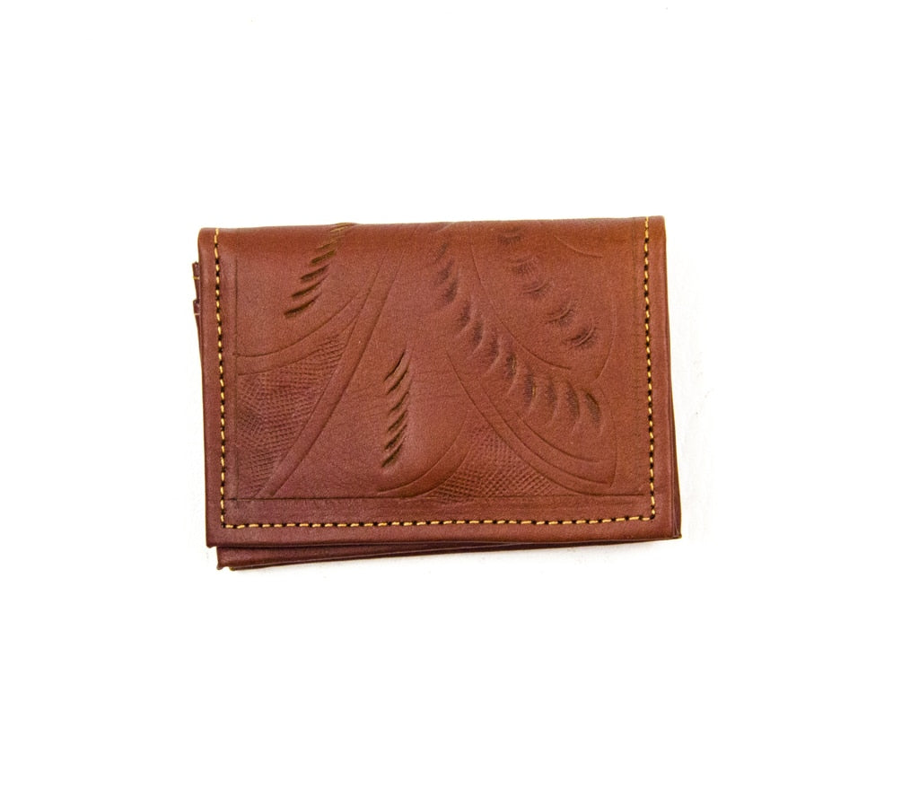 Business Card Holder: Cognac - headwestbozeman