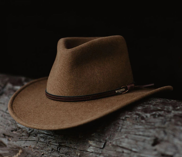 The Bozeman Hat by Stetson made in the USA. Shop our western cowboy hats!