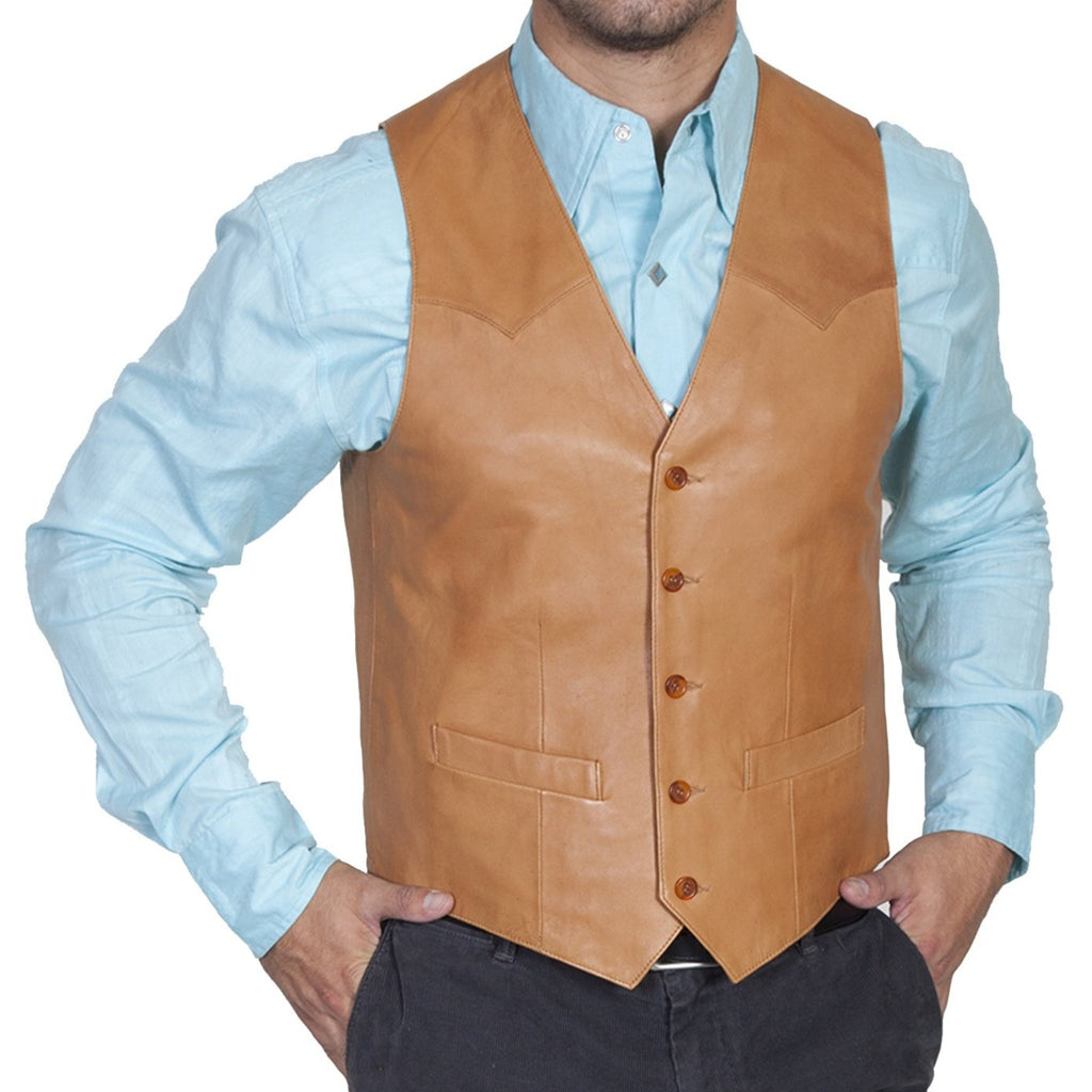This handsome Scully vest is made with lambskin. Perfect for western activities!
