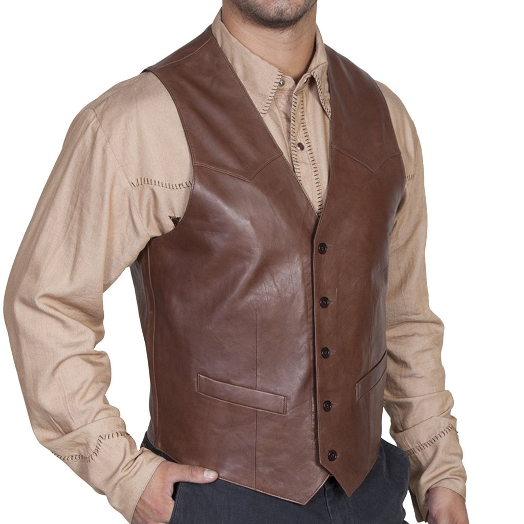 Scully Lambskin Leather Vest - headwestbozeman