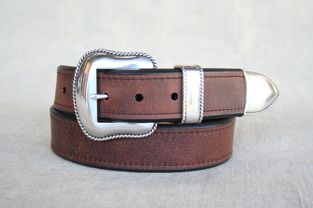 the Cash belt is a versatile American bison belt perfect to wear with your favorite pair of jeans. Handcrafted with bison leather in the third-generation family-owned factory, found at Head West in Bozeman Montana