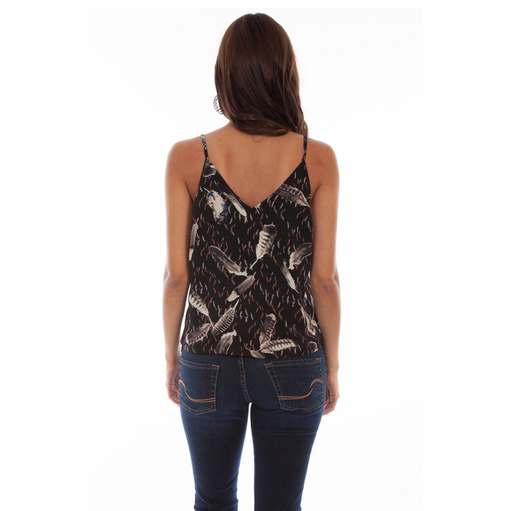 Floral/Feather Reversible Tank