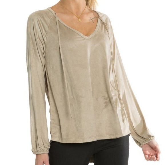 Luxe Suede Knit Top
