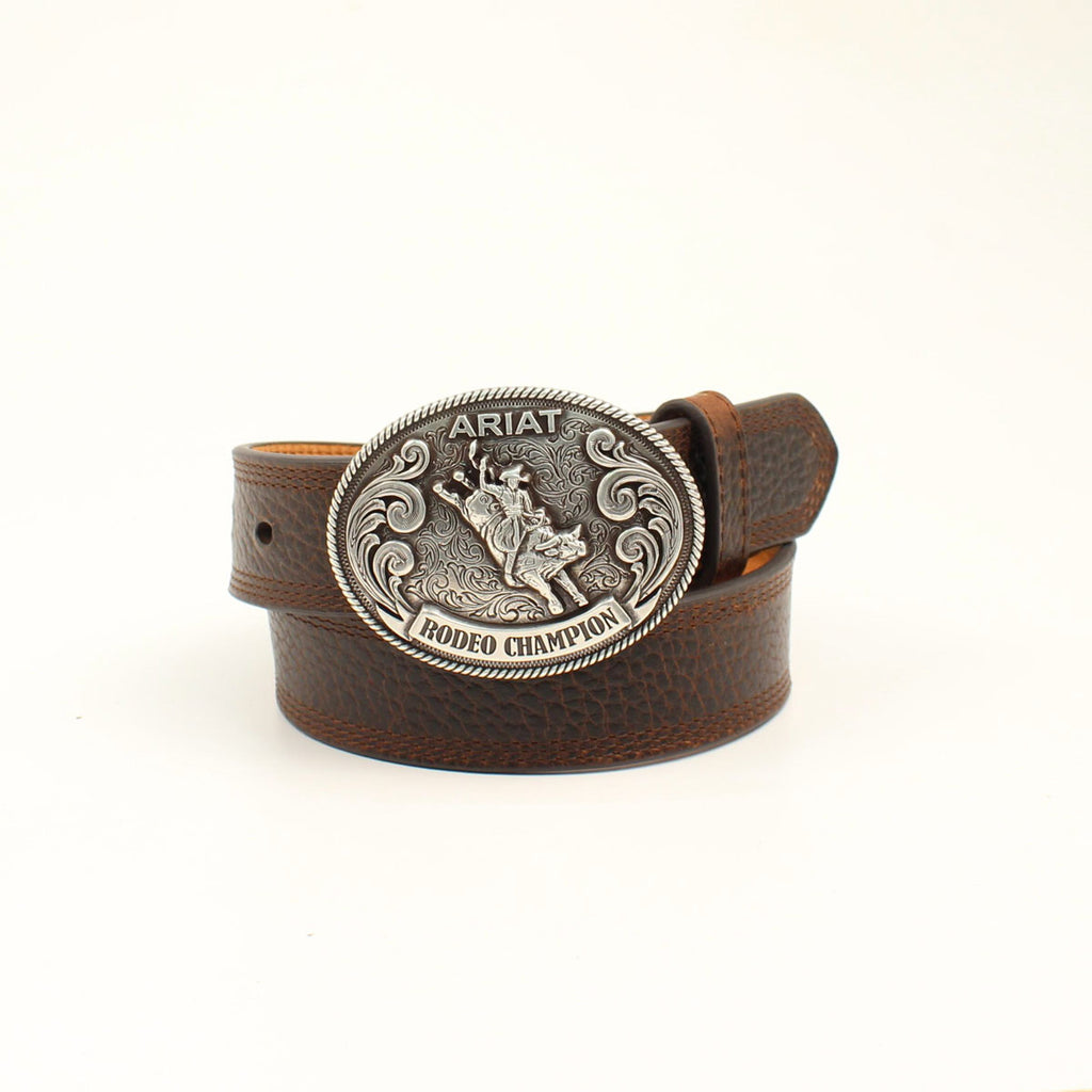Leather Rodeo Champion Belt - headwestbozeman