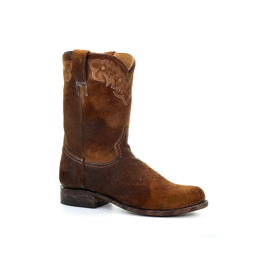 This boot by Corral is a western classic. With a Stockman heel and leather outsole, this boot will be with you among life's many adventures. Men's boot on sale.