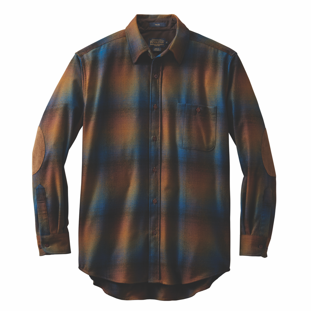 Made with pure virgin wool from Umatilla County, Oregon, this men's western shirt is designed with elbow patches and so much more! Get yours at Head West in Bozeman Montana today! AA032-32202