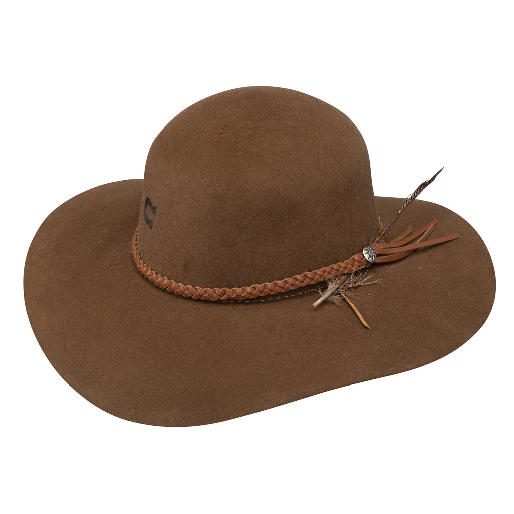 This hat is a popular item in our store especially during the warmer seasons. Customers pick up this hat to wear during music festivals, rodeos, weddings, and more. The Wanderlust travel hat is a classic in the western wear section at Head West in Bozeman, Montana.