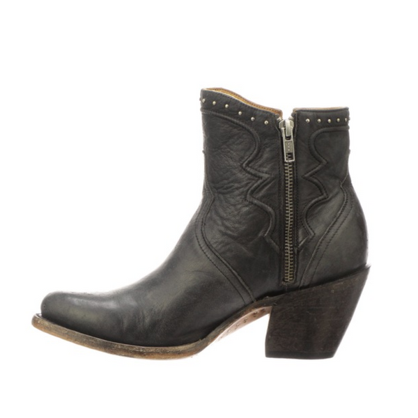 Lucchese Black Distressed Studded Bootie Cowgirl Cowboy Western Boots Head West Bozeman Montana Downtown Bozeman