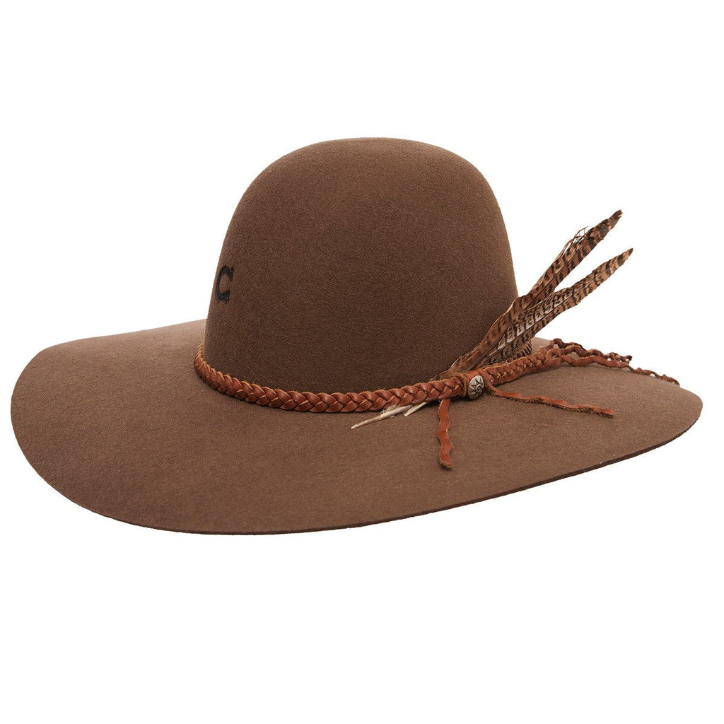 This hat is a popular item. Customers wear during music festivals, rodeos, weddings, and more. The Wanderlust travel hat is a classic in the western wear section at Head West in Bozeman, Montana.