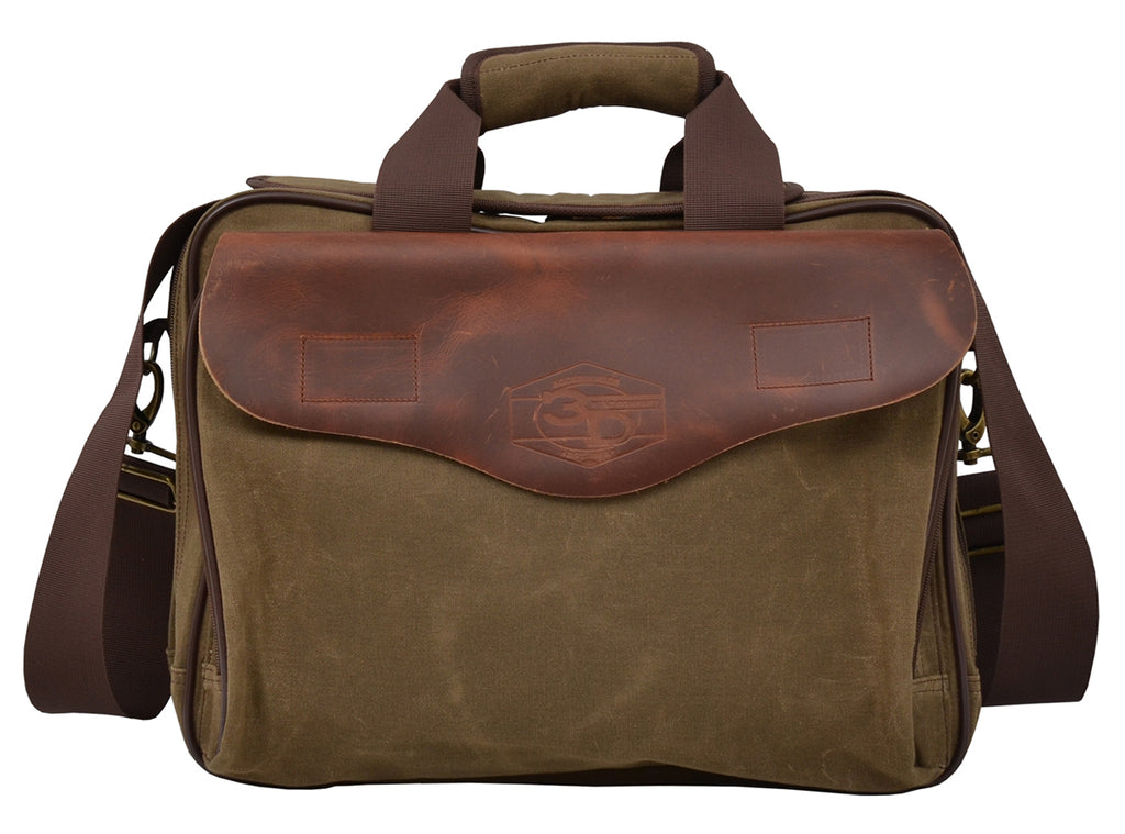 Canvas Briefcase - headwestbozeman