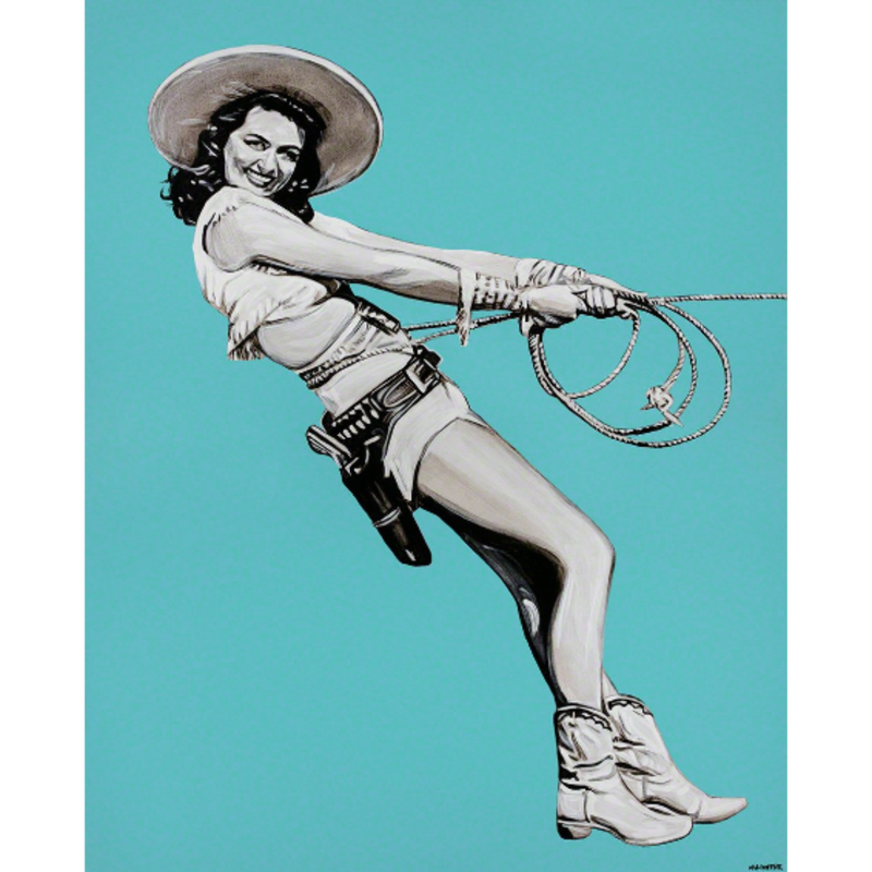Dorothy Malone by Will Hunter, Local Montana Artist Bozeman Montana, Western Art, Art Gallery