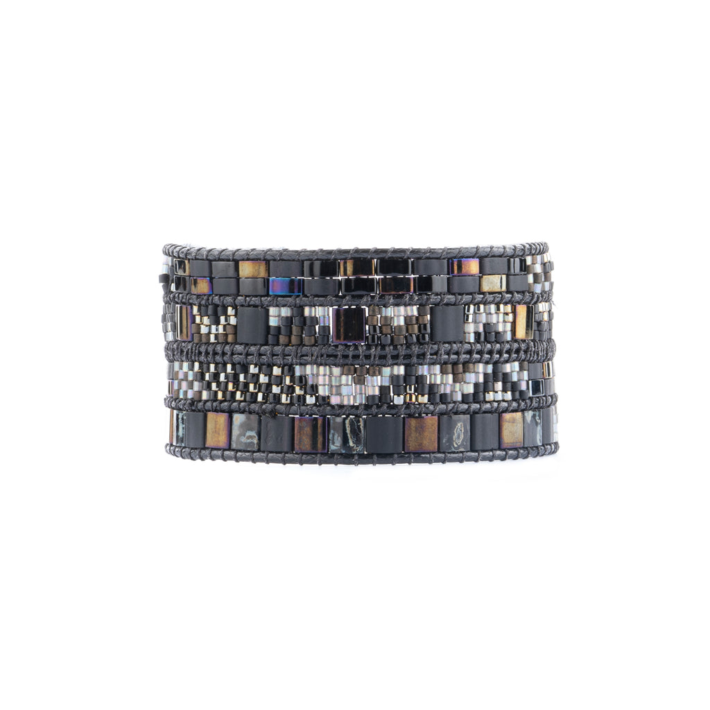 A Lilybead handwoven beaded bracelet. Find the perfect gift at Head West!