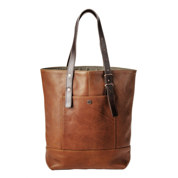 Leather Tote Pendleton Bag Womens Accessory Leather Goods Zip Pockets Cotton Lining