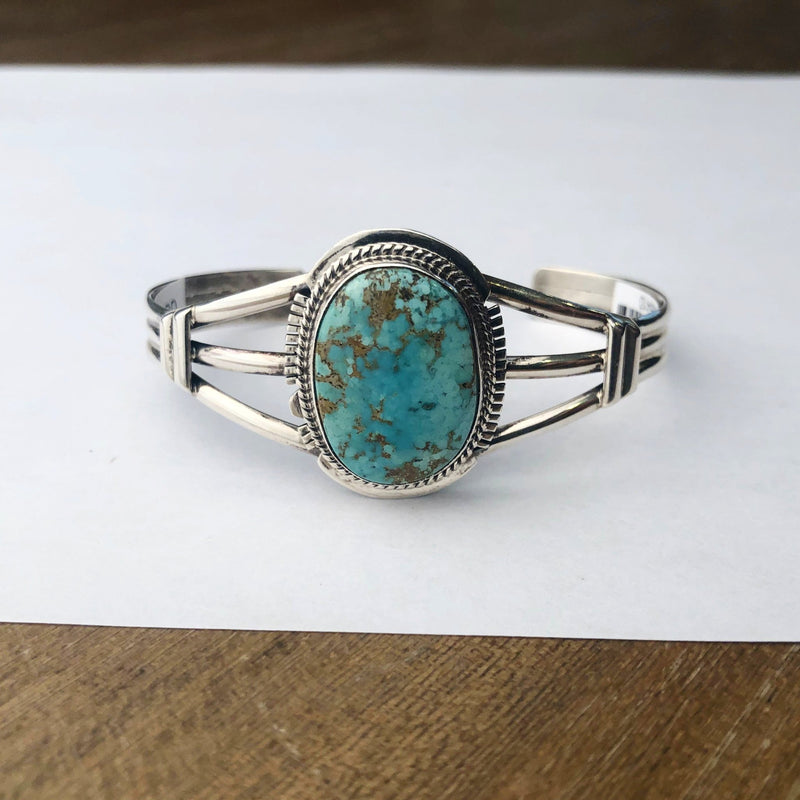 Turquoise Sterling Cuff Native Images Bozeman Montana Head West Boutique Fashion Apparel
