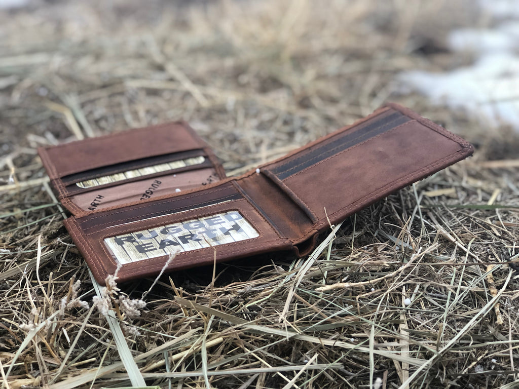 Rugged Earth Billfold Wallet - headwestbozeman