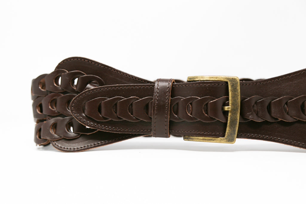 Braided Brown Belt