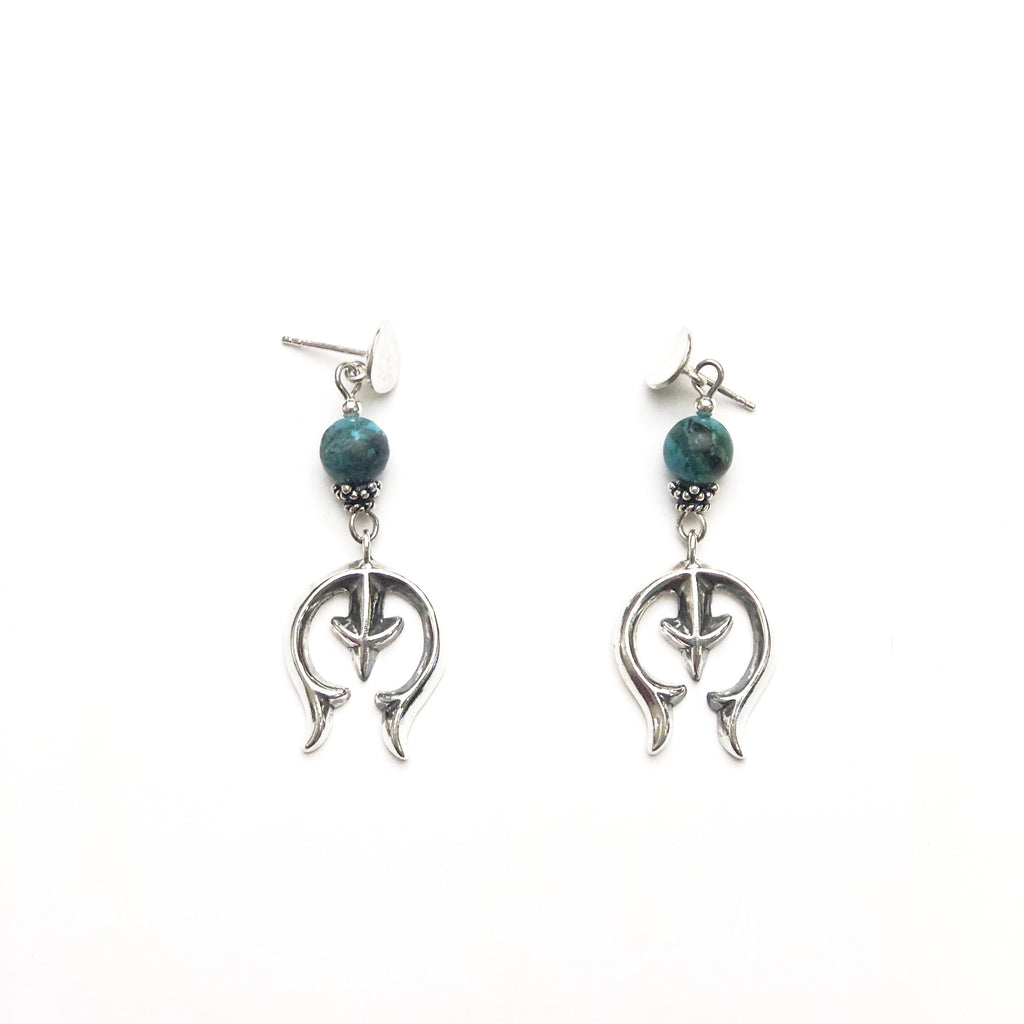 Sterling Silver Naja Turquoise Earrings - headwestbozeman