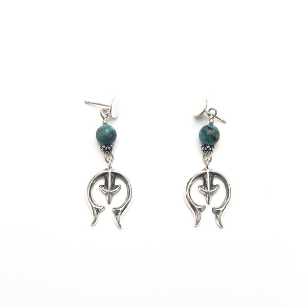 Sterling Silver Naja Turquoise Earrings