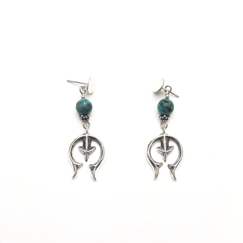 SS Naja Turquoise Earrings