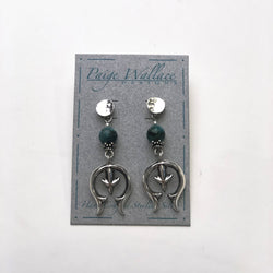Turquoise Naja Paige Wallace Earrings Head West Western Boutique Bozeman Montana