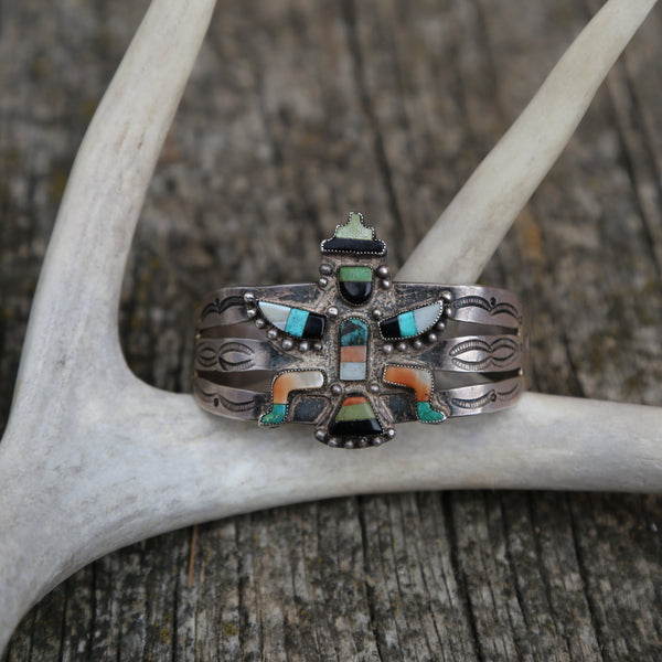 Vintage Zuni Figure Bracelet Turquoise Western Collection, Antique, Heirloom Jewelry, Head West Bozeman Montana Western Fashion, Style