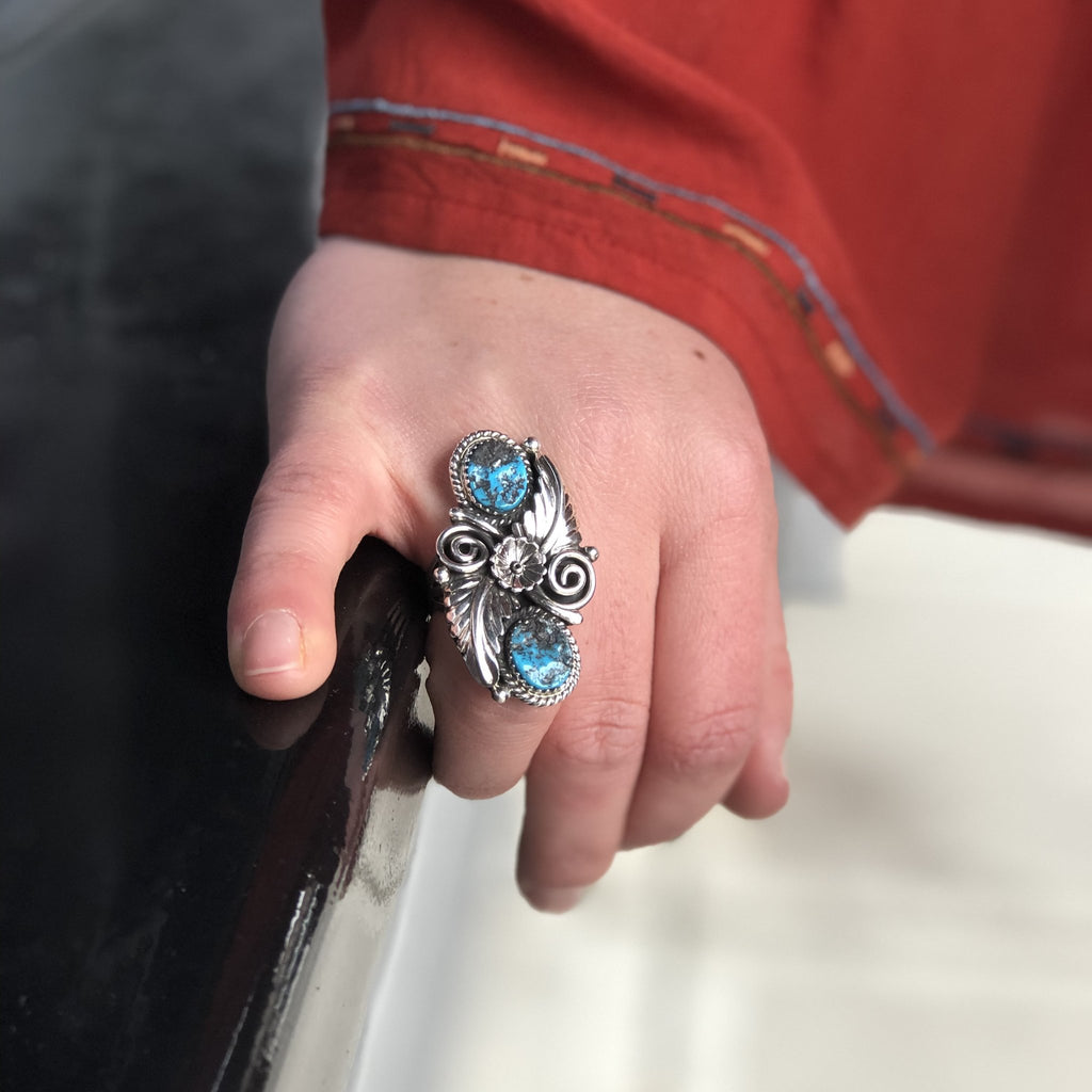 Sleeping Beauty Turquoise Ring - headwestbozeman