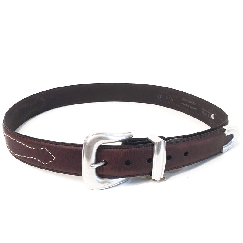 The Dalton, Western Belt Mens Belt Womens Belt US Made Leather Belt Bison Genuine